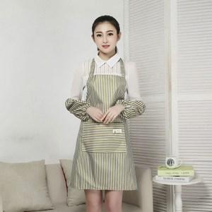 【三房兩廳】時尚袖套防水圍裙/工作圍裙 (綠色2件)