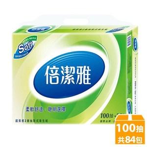 倍潔雅超質感抽取式衛生紙100抽14包6袋