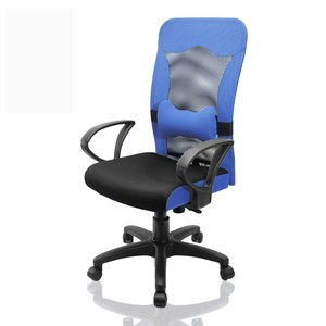好室家居 大蝴蝶透氣高背電腦椅辦公椅(五色任選)藍
