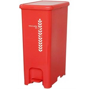 【this-this】踩踏式分類垃圾桶 40L-紅色