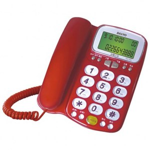 SANYO 三洋 來電顯示助聽功能有線電話 21x18x8.8cm TEL-986