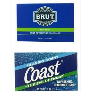 Brut男士格新古龍水香皂+美國Coast精典體香皂
