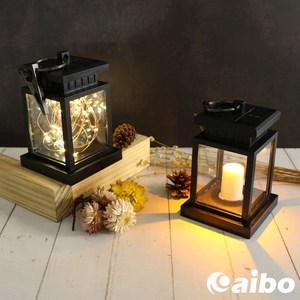 太陽能充電 可夾式LED復古造型裝飾燈銅線