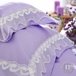 【HOYA H Series潘朵拉紫】雙人五件式天絲蕾絲被套床包組