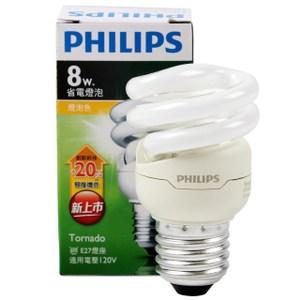 飛利浦 新一代 T2 省電燈泡 8W 黃光 PHILIPS