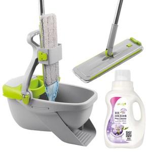 JoyLife嚴選 免手洗不髒手魔布平板拖把送小蒼蘭香氛地板清潔濃縮凝