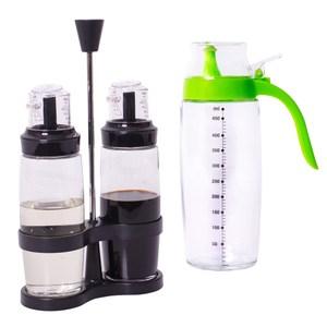 宜居家廚房玻璃調味油罐/瓶組(500ml+250mlx2支)