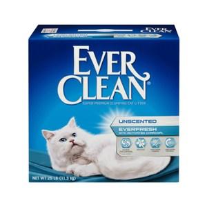 【Ever Clean】藍鑽結塊貓砂-25磅(11.3kg)-白標