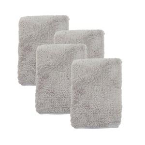 (組)極超細纖維素色毛巾-灰37x75cm 4入組