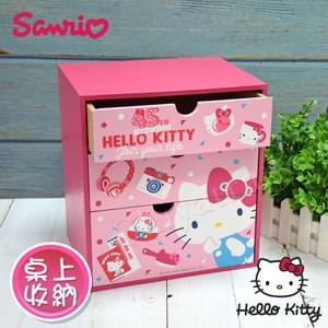 【Hello Kitty】凱蒂貓 繽紛玩美 桌上三層收納櫃 桌上收納
