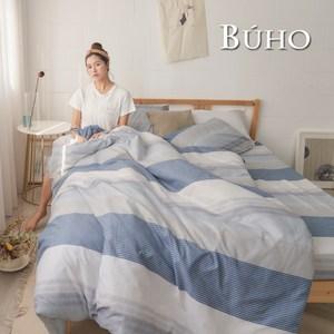 BUHO 雙人加大四件式舖棉兩用被床包組(北歐假期)