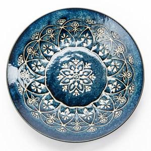 日本 摩洛哥盤 24cm 藍