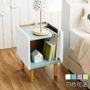 《C&B》歐伊姆迷你床頭櫃邊桌-淡粉藍