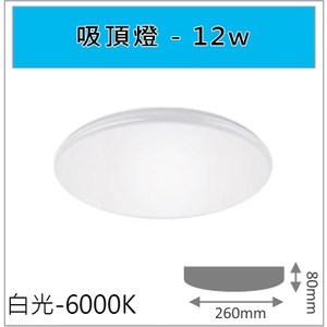 HONEY COMB 經典12W吸頂燈 白光 TAC310-6