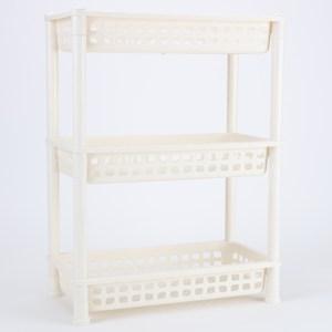 多樣屋 TAYOHYA 浴室方型三層置物架 米白色款