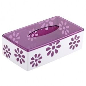 小雛菊面紙盒明紫