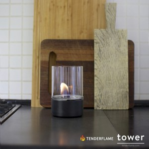 Tenderflame tower 安全燃料氣氛情境燈經典黑
