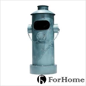 ForHome 工業風 老式消防栓 踩式垃圾桶 收納桶 復古仿舊 仿舊藍色大款