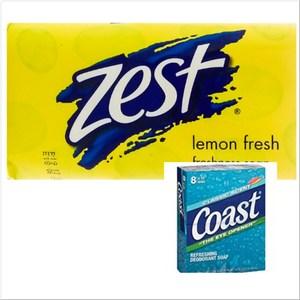 Zest體香皂檸檬清香(175g)*6+Coast香皂*8