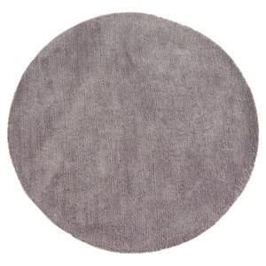 HOLA 達芬防蟎抗菌地毯 120x120cm 圓形 灰色款