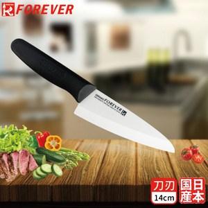 FOREVER 日本製造鋒愛華標準系列陶瓷刀14CM(白刃黑柄)