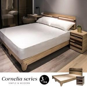 【obis】卡蓮娜系列5尺房間組3件式-床頭+床底+床墊梧桐
