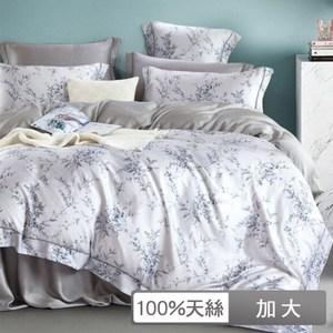 【貝兒居家】60支100%天絲三件式床包組匿然(加大)