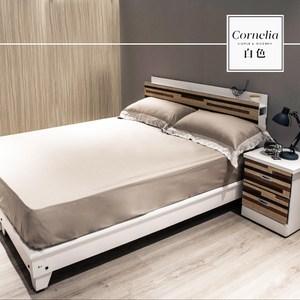 【obis】卡蓮娜系列5尺房間組3件式-床頭+床底+床墊白色