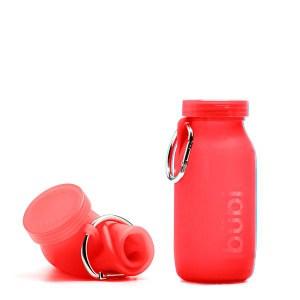 BUBI BOTTLE 矽膠摺疊多功能水壺 450ml - 紅色