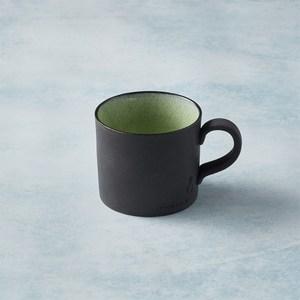 【有種創意】日本美濃燒 - 黑陶釉彩馬克杯 - 橄欖綠