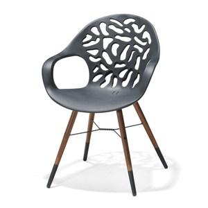 珊瑚FSC造型實木椅-黑