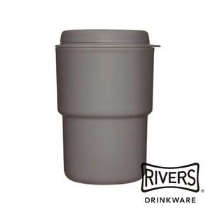 日本 Rivers WALLMUG DEMITA隨行杯290ml-鉛灰