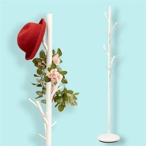 穩重型樹枝造型衣帽架(白色)