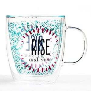 【Royal Duke】雙層玻璃咖啡杯/馬克杯-日安美好(380ml)