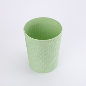 HOLA 凱爾編織紋垃圾桶6L-綠