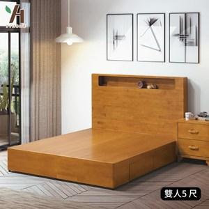 【伊本家居】貝雅 實木收納抽屜床架 雙人5尺單一規格(只有床底)