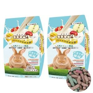 Doter 寵愛物語兔主食 水果牛奶風味3公斤x2包