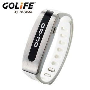 GOLiFE 第二代Care 健康智慧記錄手環by PAPAGO!銀白色