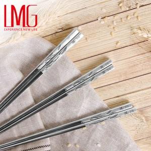 【LMG】316 不鏽鋼雷射雕紋筷-稻香(20雙入)