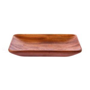 桃花心木長方型淺盤-小