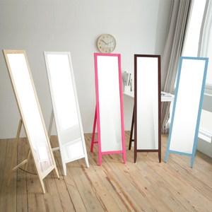 玩彩美背松木全身立鏡/穿衣鏡(五色) 完美主義 I0114粉紅