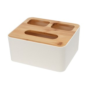 【IDEA】日系天然竹面三格式收納面紙盒
