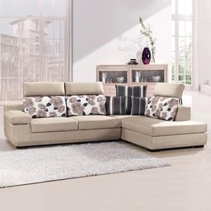 【典雅大師】荷田雅緻L型舒適布沙發左