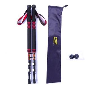 【PUSH! 戶外休閒登山用品】航空碳纖維登山杖P66(藍色2入)