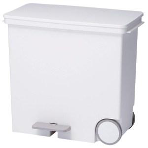 【日本Like it】橫向式分類垃圾桶 25L-純白色