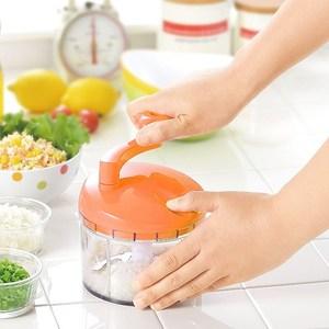 日本製造Shimomura漾彩蔬果研磨絞碎器(鮮紅橘)