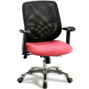 aaronation 適透氣網背電腦椅/辦公椅-優雅粉(i-RS143