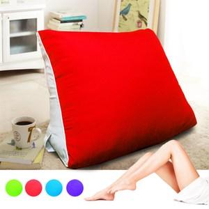 【KOTAS】大型 滾邊 抬腿記憶枕/靠枕(四色款) 抬腿記憶枕-紅