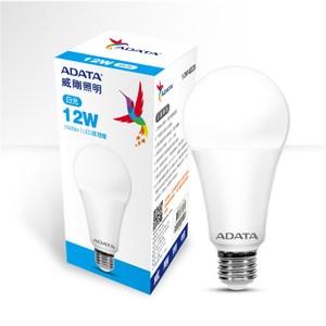 10入組-ADATA威剛12W高效能LED球泡燈-白光 12W65C