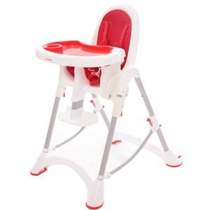 myheart 折疊式兒童安全餐椅-蘋果紅